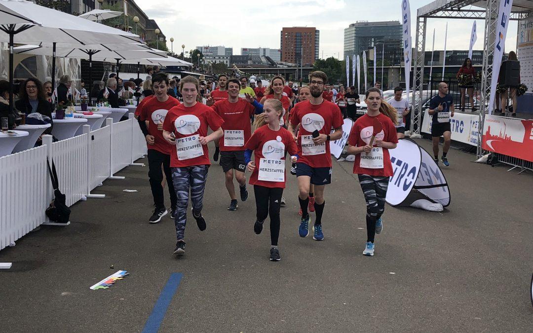 Staffellauf beim Düsseldorf-Marathon, 29.04.2018